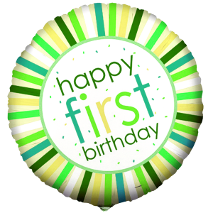 Sweet Safari Pink 1st Birthday Foil Balloon 2 copy