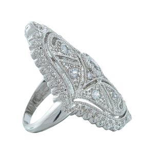 Bling Jewelry Great Gatsby Inspired CZ Vintage Style Full Finger Armor Ring_3