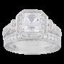 Sterling Silver Swarovski Zirconia Asher Antique Wedding Ring Set_1