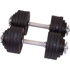 One Pair of Adjustable Dumbbells Cast Iron Total 105 Lbs_1