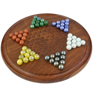 Game Chinese Checkers with Marbles Handcrafted Wooden Toys from India 1