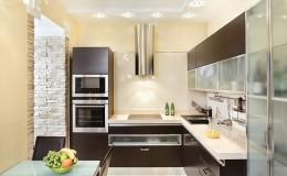 Modern Kitchen interior in warm tones