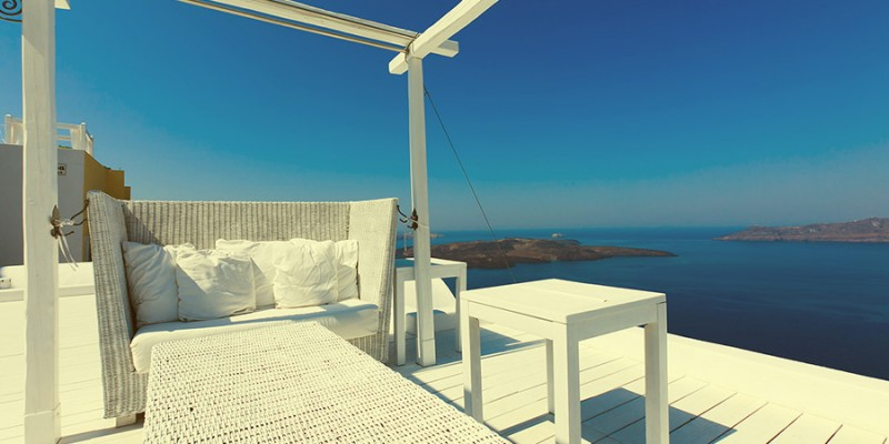 A nice luxury hotel in Fira, Santorini, Greece