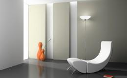 Elegant interior with white armchair 3D rendering