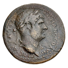 HADRIAN AE40 MEDALLION, 134-138. Phrygia, Rome coin