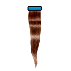 Mousy brown 18 inches straight pre taped european remy hair extensions