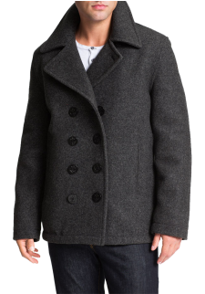 'Dugan' Wool Blend Peacoat