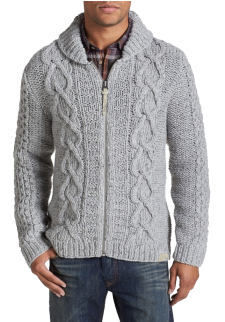 K Idra Zip Shawl Collar Sweate