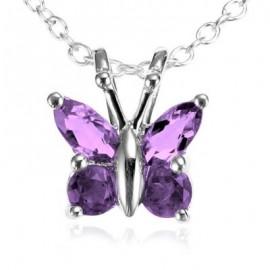 Sterling Silver Amethyst Butterfly