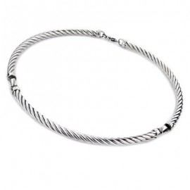 Sterling Silver Twisted Cable Necklace