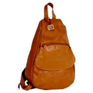 Piel Leather Flap-Over Sling Backpack Handbags