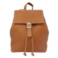 Piel Top Flap Drawstring Backpack