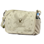 Vintage Khaki Messenger Bag with Exploded Army Eagle