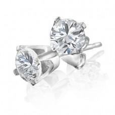 14K White Gold 0.33 Carat Diamond Stud Earrings