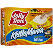 Jolly Time Fun Kettle Corn, KettleMania Outrageously Microwave Popcorn