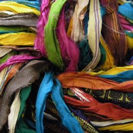 Colored Ribbon Yarn