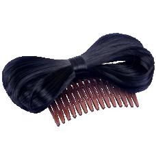 Bow Hair Extension Bowknot Black Comb Clip Fashion