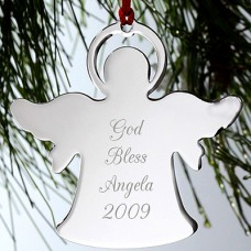 Silver Angel Personalized Ornament