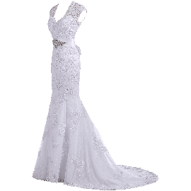 Gorgeous Bridal 2015 Elegant Trumpet Evening Gown Bridal Gown (Free Bracelet)