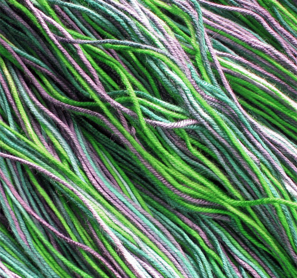 Dyed Bamboo Yarn Closeup