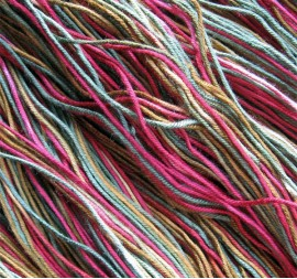 Dyed Bamboo Yarn Closeup