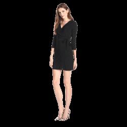 Women's Faux-Wrap Dress
