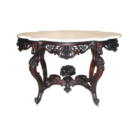 American Rococo  Laminated Rosewood Table