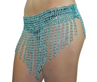 Beaded Elastic Waist Rave Belly Dan..