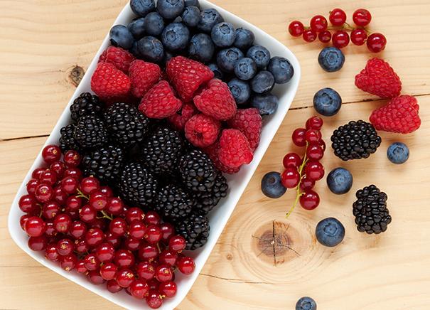 Freshly-frozen berries