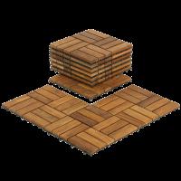 Flooring Tiles in Teak Wood