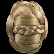 Jessica Simpson Hairdo Braided Chignon Clip In Bun Hair Golden Wheat