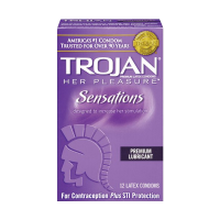 Trojan Condom Her Pleasure Sensations Lubricated, 12 Count