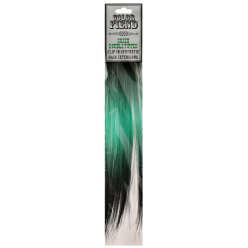 Color Fiend Green Double Tipped Clip-In Synthetic Hair Extensions