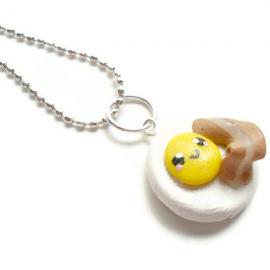 Kawaii Necklace Polymer Clay Breakfast