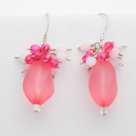 Pretty in Pink Soft Matte Wire Wrapped Earrings
