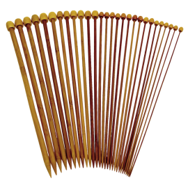 Carbonized Patina Single Point Bamboo Knitting Needles 14 Sizes