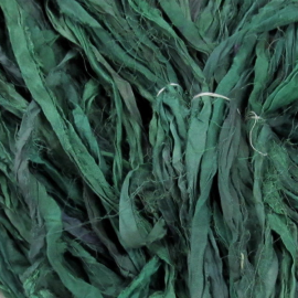Deep Turquoise Reclaimed Silk Sari Ribbon