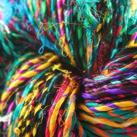 Recycled Resolution Sari Silk Yarn