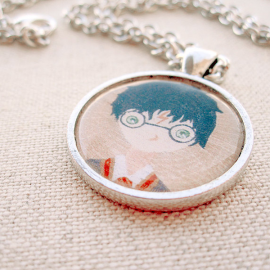 Harry potter mini painting pendant necklace