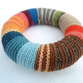 Crochet bangle - Colorful bracelet