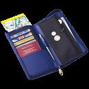 Clava Split Zip Travel Wallet - violet