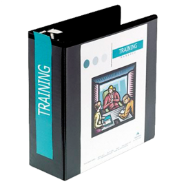 D-Ring Vinyl View Binder 4in Capacity
