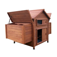 Large House Chicken Coop Polutry Rabbit Cage Hutch