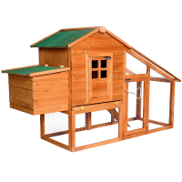 75- Deluxe Wooden Chicken Coop Backyard Nest Box Hen House Rabbit Wood Hutch