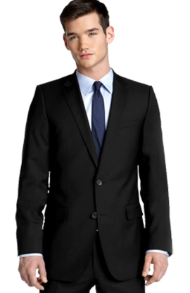 HUGO 'Aikonen' Black Wool Suit