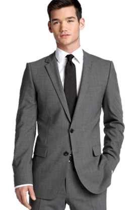 HUGO 'Aikonen' Grey Stretch Wool Suit