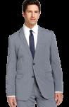 BOSS Black Blue Stripe Cotton Suit