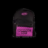 Black Backpack w Survival Kit Imprint