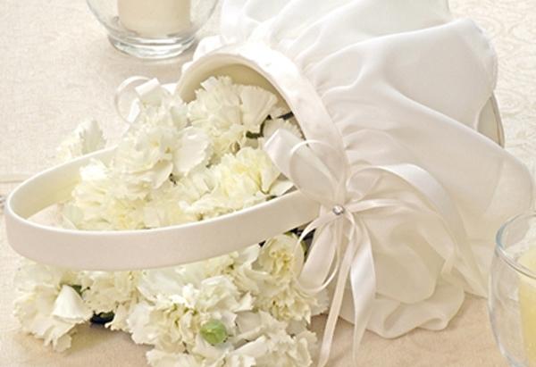 Chiffon Flower Girl Basket