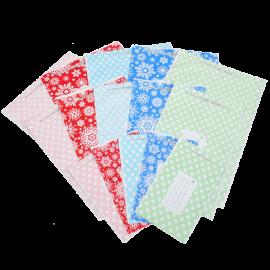 Polka Dot and Snowflake Printed